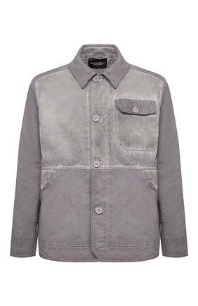 Мужская хлопковая куртка-рубашка A-COLD-WALL* серого цвета, арт. ACWM0028   Фото 1 (Материал внешний: Хлопок; Материал подклада: Синтетический материал; Рукава: Длинные; Длина (верхняя одежда): Короткие; Мужское Кросс-КТ: Верхняя одежда, Куртка-верхняя одежда; Стили: Гранж; Кросс-КТ: Ветровка, Куртка)