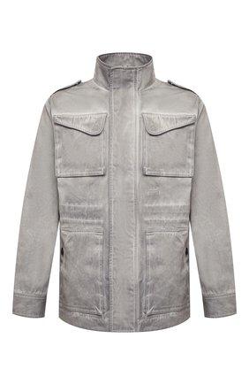 Мужская хлопковая куртка A-COLD-WALL* серого цвета, арт. ACWM0027   Фото 1 (Материал подклада: Синтетический материал; Материал внешний: Хлопок; Рукава: Длинные; Длина (верхняя одежда): Короткие; Мужское Кросс-КТ: Куртка-верхняя одежда, Верхняя одежда; Кросс-КТ: Ветровка, Куртка)