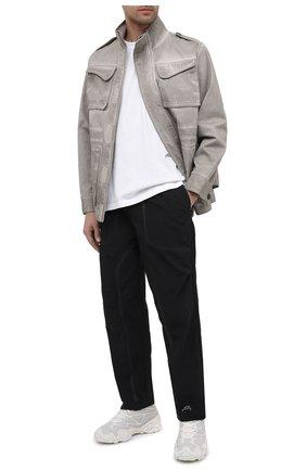 Мужская хлопковая куртка A-COLD-WALL* серого цвета, арт. ACWM0027   Фото 2 (Материал подклада: Синтетический материал; Материал внешний: Хлопок; Рукава: Длинные; Длина (верхняя одежда): Короткие; Мужское Кросс-КТ: Куртка-верхняя одежда, Верхняя одежда; Кросс-КТ: Ветровка, Куртка)