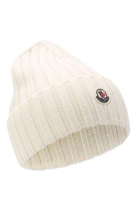 Женский шерстяная шапка MONCLER белого цвета, арт. F2-093-9Z708-00-A9327 | Фото 1