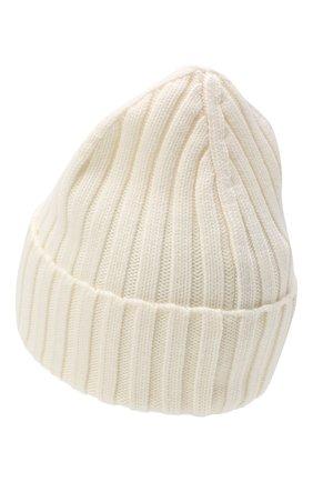 Женский шерстяная шапка MONCLER белого цвета, арт. F2-093-9Z708-00-A9327 | Фото 2