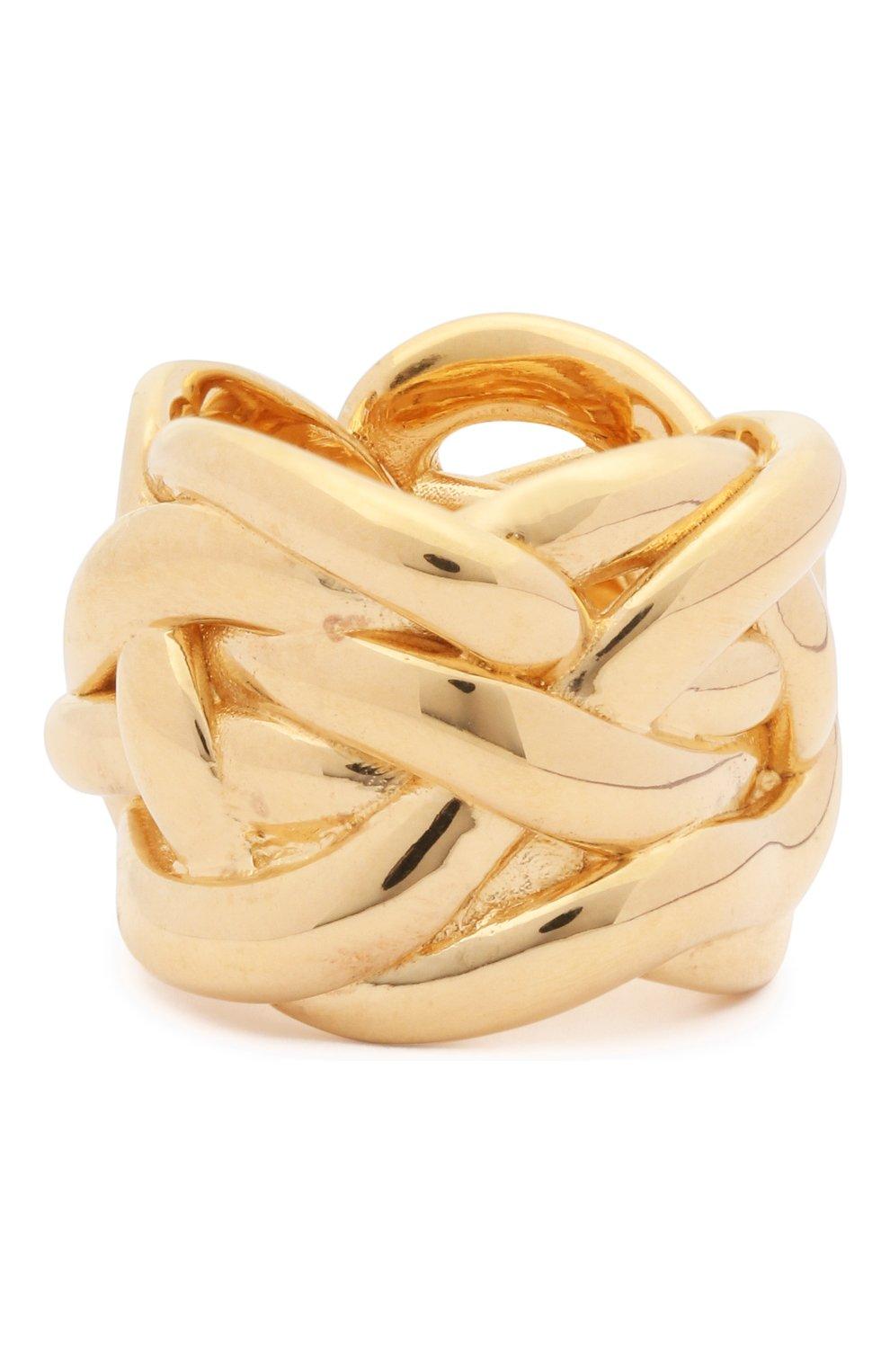 Женское кольцо BOTTEGA VENETA золотого цвета, арт. 637123/VAHU0 | Фото 1