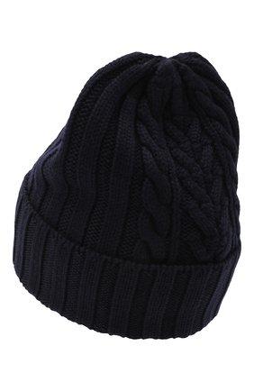Женская шерстяная шапка MONCLER темно-синего цвета, арт. F2-093-9Z706-00-A9146 | Фото 2