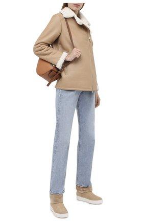 Женские замшевые ботинки SANTONI бежевого цвета, арт. WBCE60598BARPFEZE40 | Фото 2
