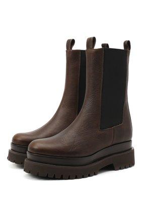 Женские кожаные ботинки PALOMA BARCELO темно-коричневого цвета, арт. 035/3 PUN0 SALVATE | Фото 1