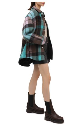 Женские кожаные ботинки PALOMA BARCELO темно-коричневого цвета, арт. 035/3 PUN0 SALVATE | Фото 2