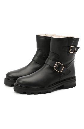 Женские кожаные ботинки JIMMY CHOO черного цвета, арт. Y0UTH II/0HI   Фото 1