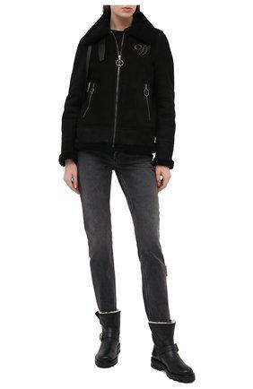 Женские кожаные ботинки JIMMY CHOO черного цвета, арт. Y0UTH II/0HI   Фото 2
