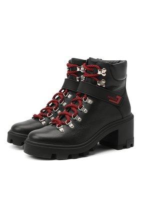 Женские кожаные ботинки carol MONCLER черного цвета, арт. F2-09B-4F708-00-02SEA | Фото 1