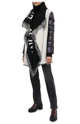 Женские кожаные ботинки carol MONCLER черного цвета, арт. F2-09B-4F708-00-02SEA | Фото 2