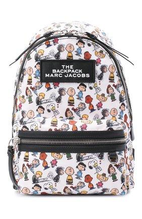 Женский рюкзак the backpack medium peanuts x marc jacobs MARC JACOBS (THE) белого цвета, арт. M0016563 | Фото 1