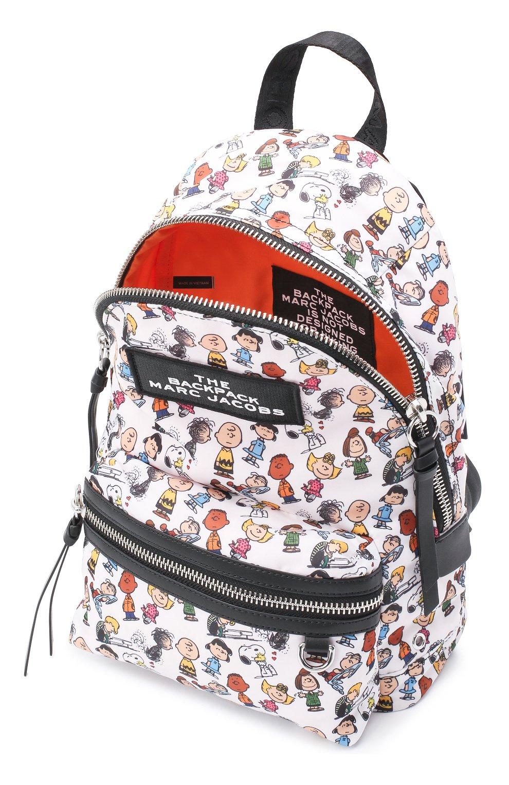 Женский рюкзак the backpack medium peanuts x marc jacobs MARC JACOBS (THE) белого цвета, арт. M0016563 | Фото 4
