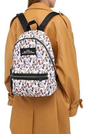 Женский рюкзак the backpack large peanuts x marc jacobs MARC JACOBS (THE) белого цвета, арт. M0016562 | Фото 2