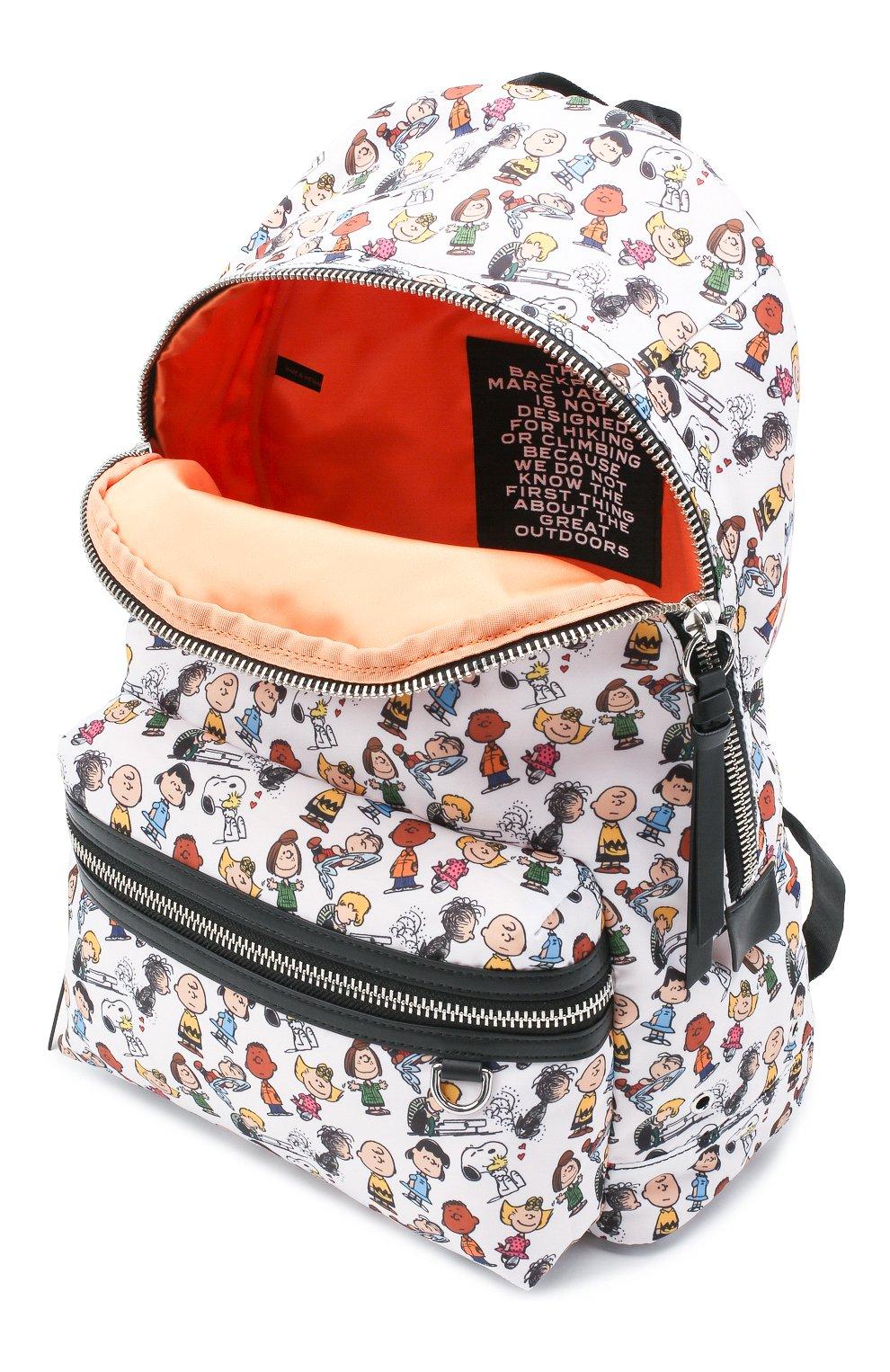 Женский рюкзак the backpack large peanuts x marc jacobs MARC JACOBS (THE) белого цвета, арт. M0016562 | Фото 4