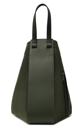 Женская сумка hammock LOEWE темно-зеленого цвета, арт. A538H02X01 | Фото 1