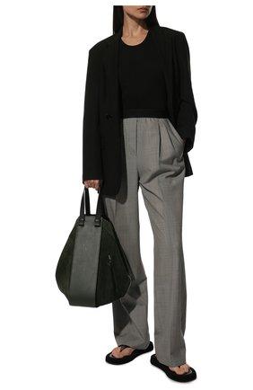 Женская сумка hammock LOEWE темно-зеленого цвета, арт. A538H02X01 | Фото 2