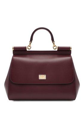 Женская сумка sicily medium DOLCE & GABBANA бордового цвета, арт. BB6002/AW752 | Фото 1