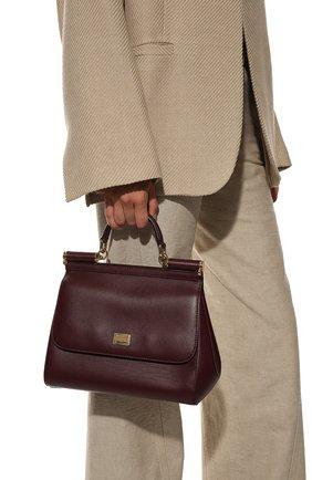 Женская сумка sicily medium DOLCE & GABBANA бордового цвета, арт. BB6002/AW752 | Фото 2