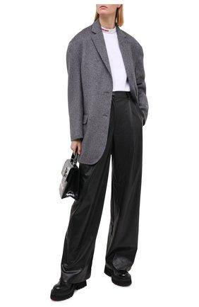 Женская хлопковая рубашка SUBTERRANEI белого цвета, арт. I8SUBFW18-009   Фото 2