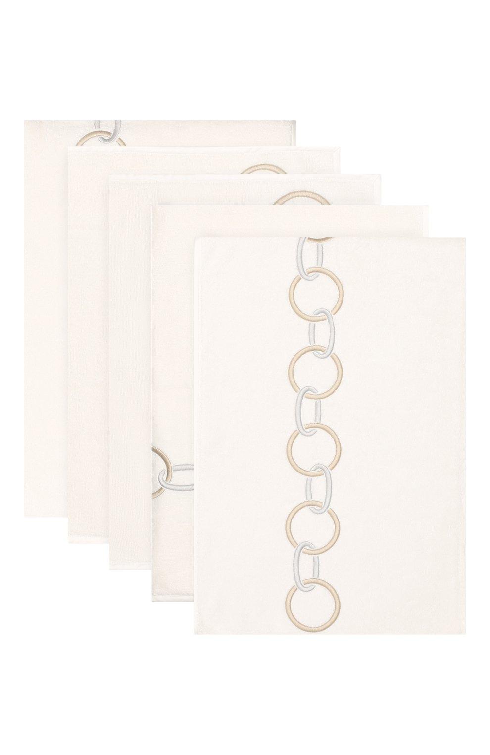 Мужского комплект из 5-ти полотенец FRETTE бежевого цвета, арт. FR6568 D1100 5PZD | Фото 1