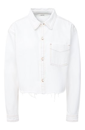 Женская джинсовая рубашка GRLFRND белого цвета, арт. GF40708851278 | Фото 1
