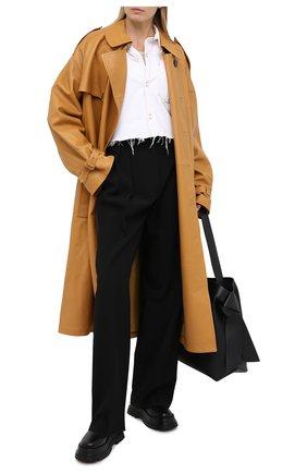 Женская джинсовая рубашка GRLFRND белого цвета, арт. GF40708851278 | Фото 2