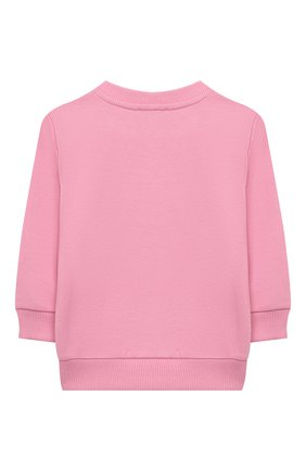 Детский хлопковый свитшот BALMAIN светло-розового цвета, арт. 6N4840/NX300/12-36M | Фото 2