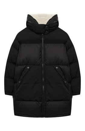 Детский пуховая куртка YVES SALOMON ENFANT черного цвета, арт. 21WEM006XXF59X/12-14 | Фото 1