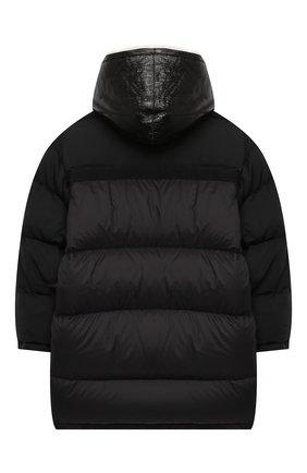 Детский пуховая куртка YVES SALOMON ENFANT черного цвета, арт. 21WEM006XXF59X/12-14 | Фото 2