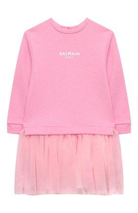 Женский платье BALMAIN светло-розового цвета, арт. 6N1340/NE060/12-36M | Фото 1