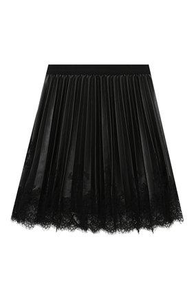 Детская плиссированная юбка ERMANNO SCERVINO черного цвета, арт. 479 GN02 EC0/10-16 | Фото 1