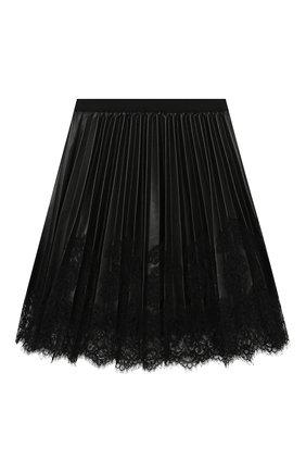 Детская плиссированная юбка ERMANNO SCERVINO черного цвета, арт. 479 GN02 EC0/10-16 | Фото 2