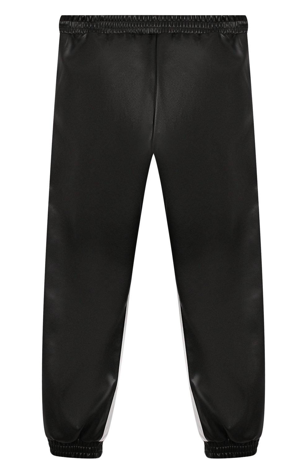 Детские брюки из эко-кожи ERMANNO SCERVINO черного цвета, арт. 479 PL02 EC0/4-8   Фото 2