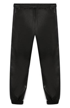 Детские брюки из эко-кожи ERMANNO SCERVINO черного цвета, арт. 479 PL02 EC0/4-8 | Фото 2