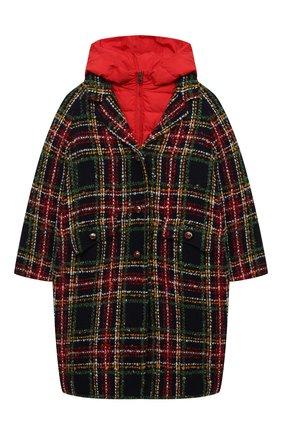 Детское пуховое пальто DOLCE & GABBANA разноцветного цвета, арт. L53C91/G7WXU/8-14   Фото 1