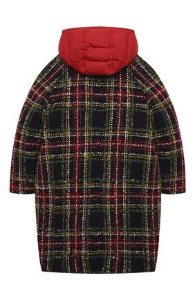 Детское пуховое пальто DOLCE & GABBANA разноцветного цвета, арт. L53C91/G7WXU/8-14   Фото 2