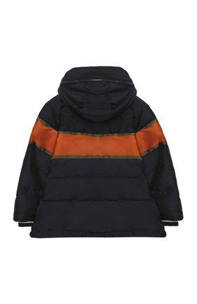 Детский пуховая куртка DOLCE & GABBANA темно-синего цвета, арт. L4JB1P/G7WWL/2-6 | Фото 2
