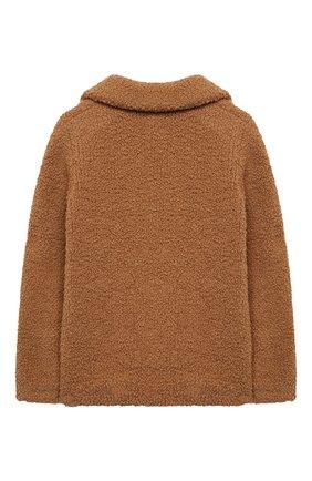 Детское укороченное пальто из шерсти LORO PIANA бежевого цвета, арт. FAL2579 | Фото 2