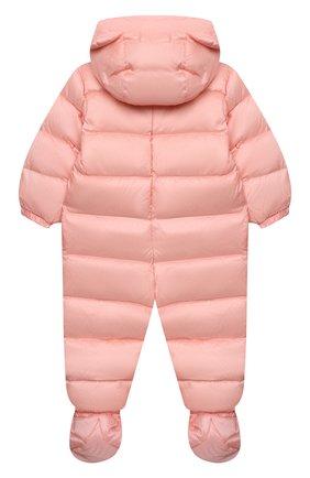 Детского пуховый комбинезон MOSCHINO розового цвета, арт. MUS01Q/L3A22 | Фото 2