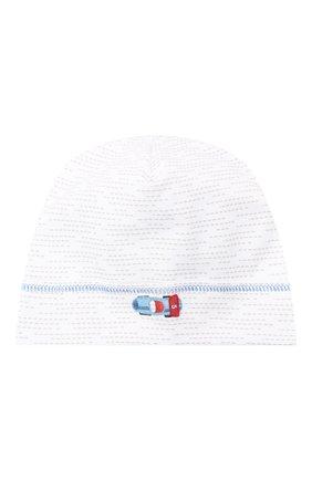 Детского хлопковая шапка MAGNOLIA BABY голубого цвета, арт. 979-50-LB | Фото 1