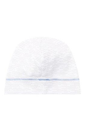 Детского хлопковая шапка MAGNOLIA BABY голубого цвета, арт. 979-50-LB | Фото 2