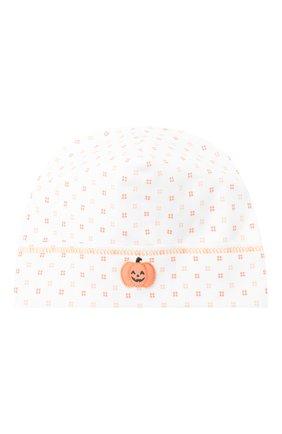 Детского хлопковая шапка MAGNOLIA BABY оранжевого цвета, арт. 835-50-OR | Фото 1