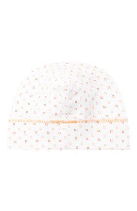 Детского хлопковая шапка MAGNOLIA BABY оранжевого цвета, арт. 835-50-OR | Фото 2
