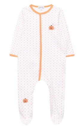Детский хлопковый комбинезон MAGNOLIA BABY оранжевого цвета, арт. 835-402-OR | Фото 1