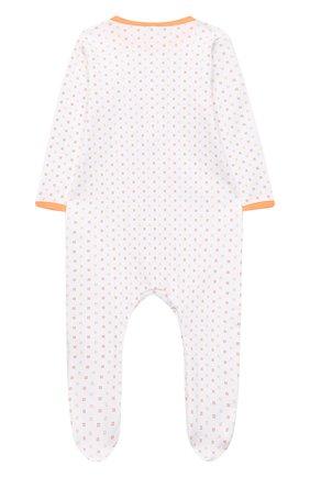 Детский хлопковый комбинезон MAGNOLIA BABY оранжевого цвета, арт. 835-402-OR | Фото 2