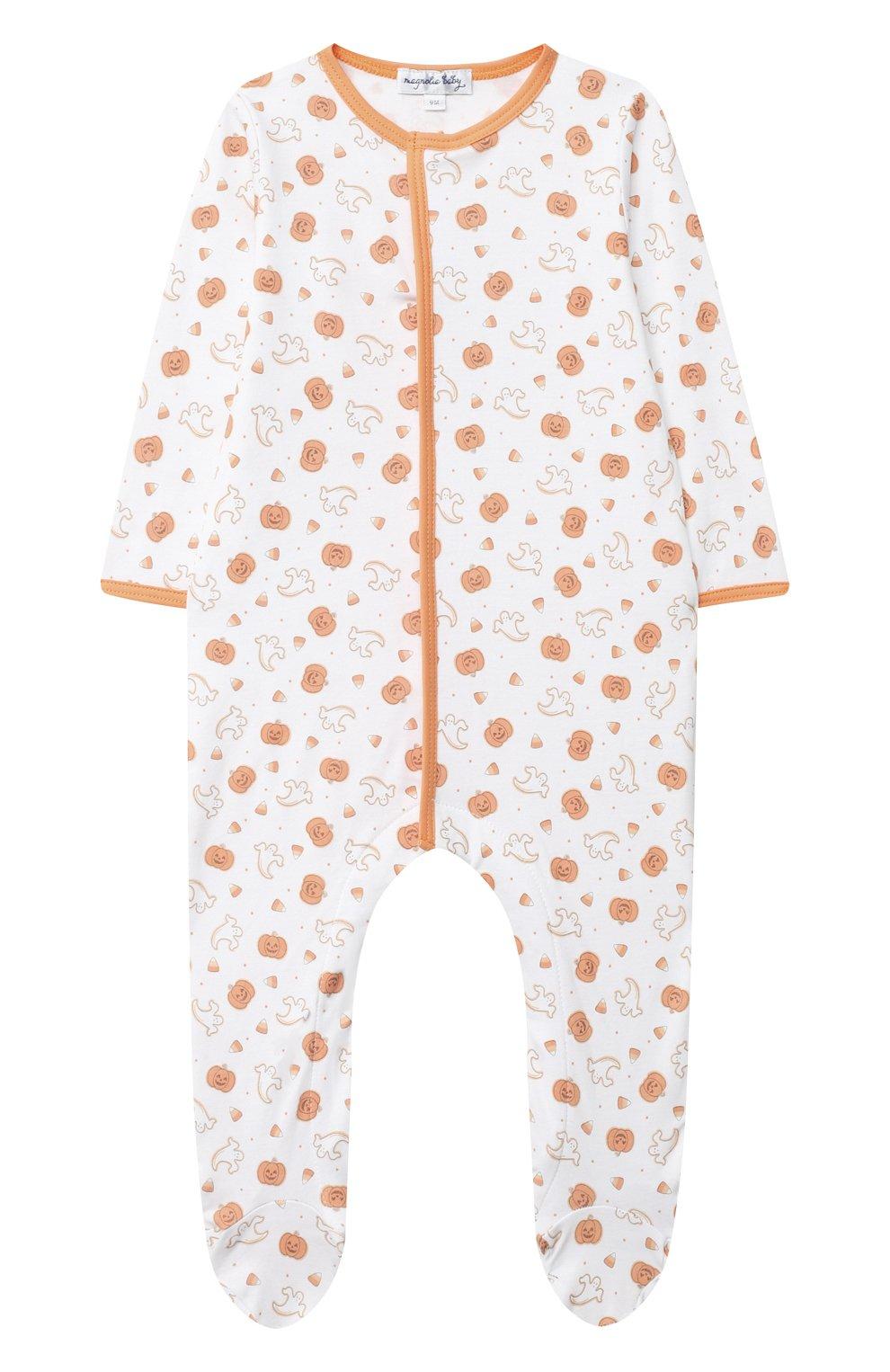 Детский хлопковый комбинезон MAGNOLIA BABY оранжевого цвета, арт. 835-402P-OR   Фото 1