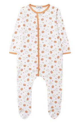 Детский хлопковый комбинезон MAGNOLIA BABY оранжевого цвета, арт. 835-402P-OR | Фото 1