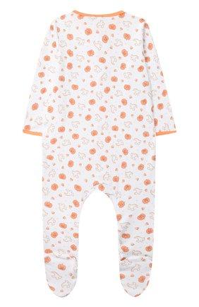 Детский хлопковый комбинезон MAGNOLIA BABY оранжевого цвета, арт. 835-402P-OR | Фото 2