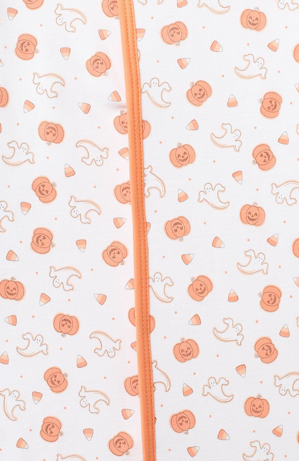 Детский хлопковый комбинезон MAGNOLIA BABY оранжевого цвета, арт. 835-402P-OR   Фото 3
