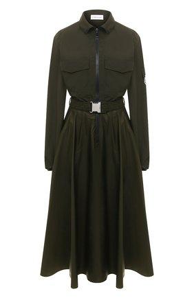 Женское платье MONCLER хаки цвета, арт. F2-093-2G700-00-V0046 | Фото 1